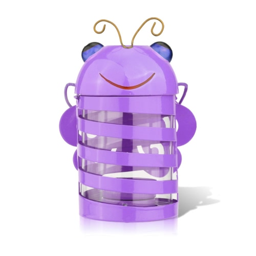 Tooarts Bee candle holder(purple)  Hurricane lamp  Practical ornament  Creative ornament Home Furnishing Articles