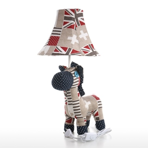 Table Lamp EU Plug Horse Sculpture Lamp Decorative Animal Lamp Adjustable Lamp Shade Multicolored Modern Cute Adjustable Animal Lamp with Led Bulb