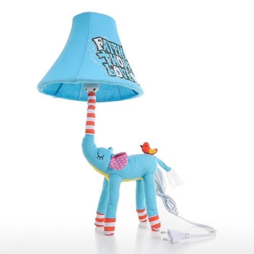 Éléphant Bleu Lampe EU Plug Animal Lampe Enfants Lampe De Table Veilleuse Pour Enfants Abat-Jour Pour Enfants Chambre Chambre de Bébé avec Ampoule