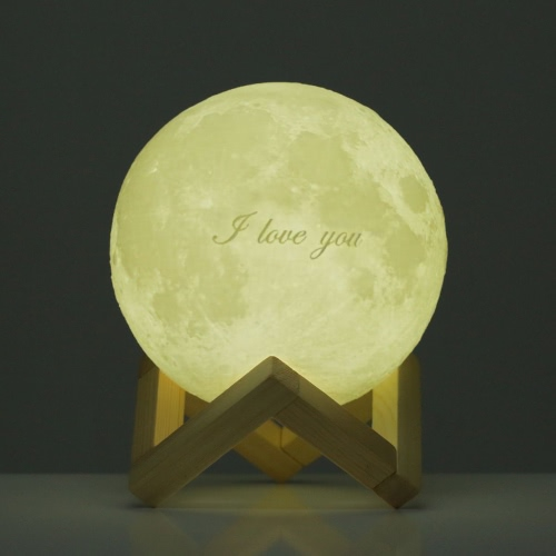 Tooarts ❤ Valentine's Day Gift❤ 3D Printed LED Light Modern Art Home Decor Moon
