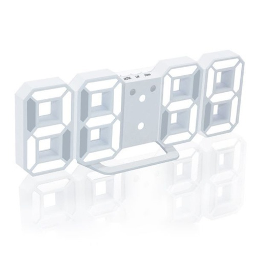 3D LED Digital Clock Glowing Night Mode Brightness