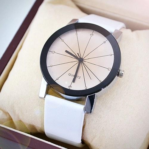 Moda Rhombus Leather Band Reloj de cuarzo Reloj de pulsera analógico casual para mujer