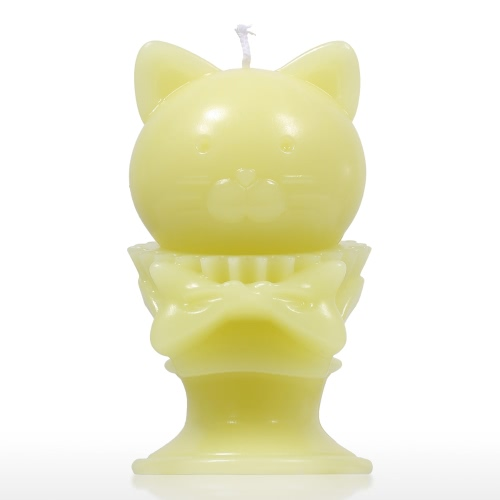 Tomfeel Aroma Candle - Yellow Kitten Decorative Aromatherapy Wax Natural Cotton Wick