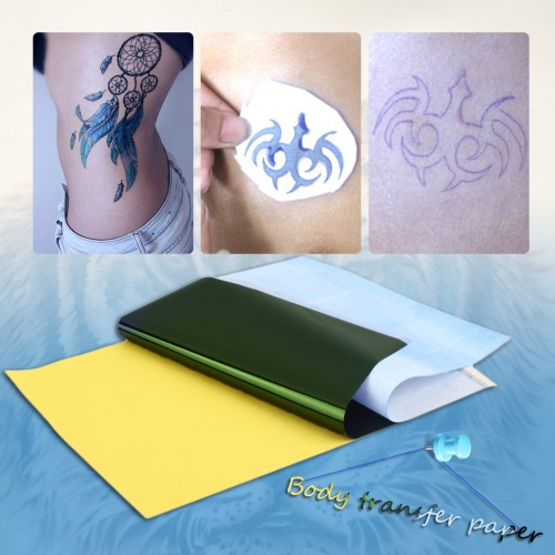 10 Blatt Tattoo Transfer Kohlepapier Versorgung Tracing Copy Body Art Schablone A4