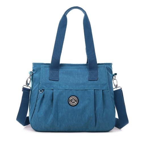 Casual Outdoor Waterproof Nylon Stud Closure Durable Shoulder Tote Bag