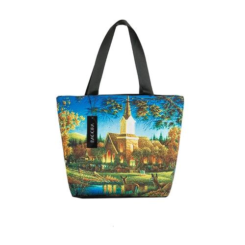 Saco Mulheres Handbag Landscape New Vintage Impressão de Grande Capacidade Casual Shoulder Tote
