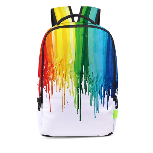 Charming Women Men 3D Splash-ink Travel Satchel Mochila Mochila Shoulder Bookbag School Bag