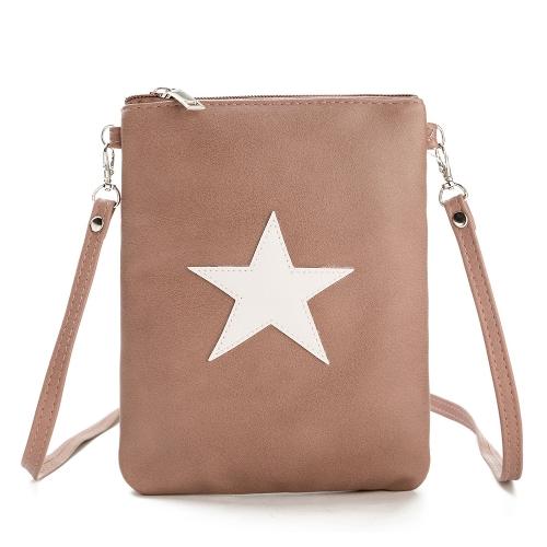 New Women PU Leather Shoulder Bag Cute Casual Crossbody Bags Girls Mini Bag Tote Mobile Phone Bag