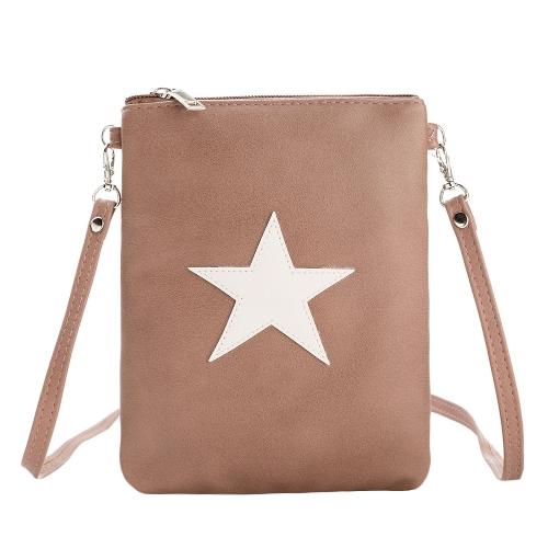 Nuevo bolso de hombro de cuero de la PU de las mujeres bolsos casuales cruzados lindos de las muchachas mini bolso del teléfono móvil del totalizador del bolso