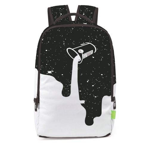 Mujeres encantadoras hombres 3D Splash-tinta viaje mochila mochila hombro bolsa de libros bolsa