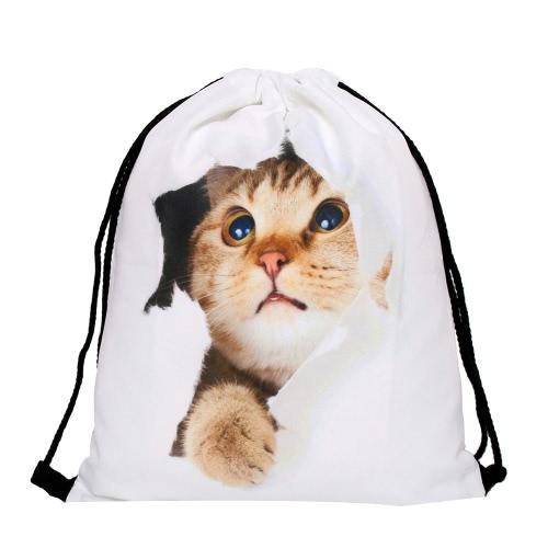 de las mujeres calientes de los hombres de impresión de hombro plegable del bolso de cadena del lazo de la escuela de la mochila del morral del bolso del gimnasio de deporte 15