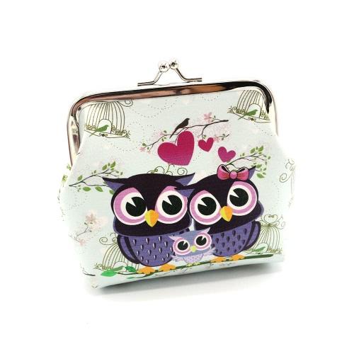 Nowe Moda Kobiety Vintage Kobiety Słodkie Sowa Wzór Małe Portfel Hasp Purse Clutch Bag