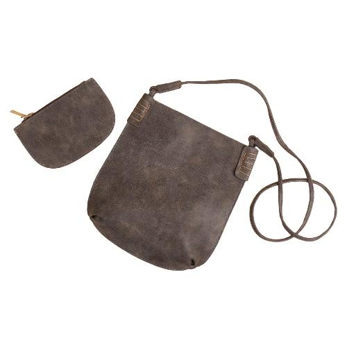 Vintage PU Lash Two-piece Shoulder Messenger Crossbody Bag for Women