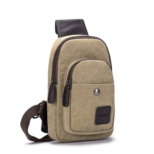 2123684f08f2 New Fashion Men Boys Casual Canvas Crossbody Bag Multi-Pocket Military Army  Style Zipper Outdoor