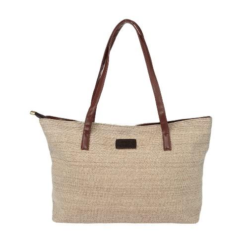 La bolsa de la nueva manera de las mujeres del bolso del color sólido de la PU que empalma informal de gran capacidad de compras del totalizador del hombro