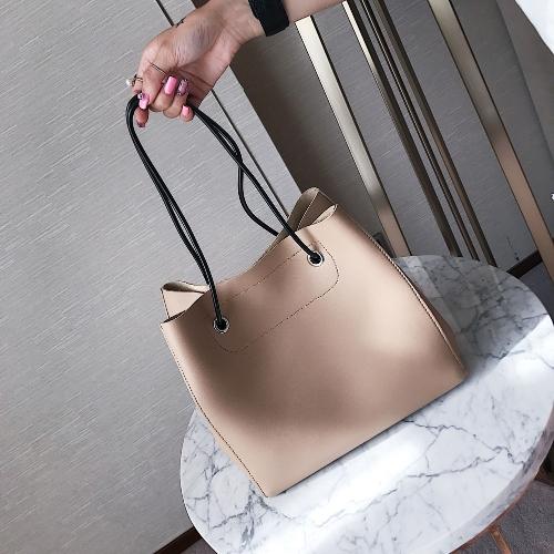 Сумка женская сумка из искусственной кожи Повседневная сумка сумка сумка Твердый композитный комплект