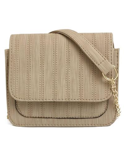 Mujeres Mini Crossbody Bolsa de la cadena de PU de cuero Flap Frente pequeña bolsa de hombro casual Messenger Bag