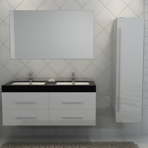 Meuble salle de bain double vasque - 3 coloris disponibles