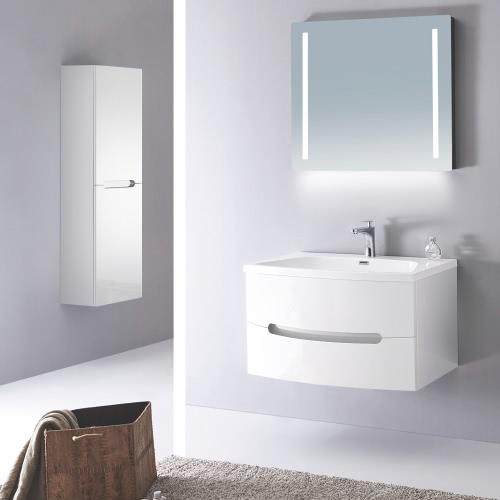Meuble salle de bain simple vasque - 2 coloris disponibles