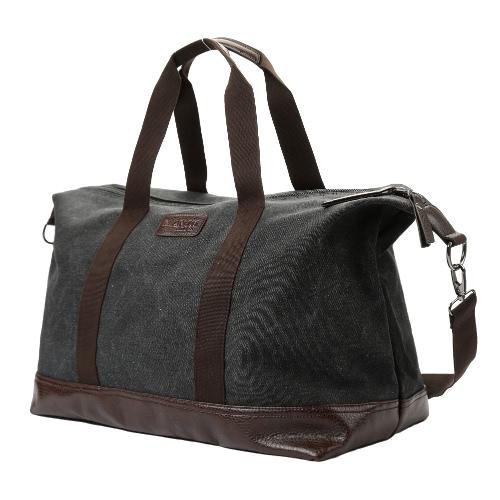 Moda mężczyzna kobiet Unisex Płótno torebka Duża pojemność stałe Vintage Travel Tote Bag Czarny Crossbody ramię / zielony