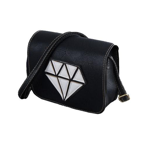 Neue Mode Frauen Crossbody Taschen weiche PU Diamond Pattern Klappe lässig kleine Mini-Schulter Messenger Tasche Handtasche
