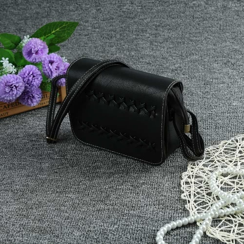 New Fashion Women Crossbody Bags Soft PU Leather Solid Color Braid Casual Small Mini Shoulder Messenger Bag Handbag