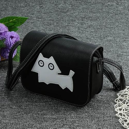 Neue Mode Frauen Crossbody Taschen Weiche PU Hund Muster Klappe Lässig Kleine Mini Schulter Umhängetasche Handtasche