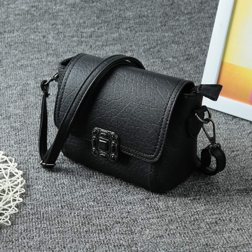 Nuovo Vintage Crossbody borse PU morbido Hasp Flap solido Casual piccolo Mini spalla Messenger Bag borsa donna