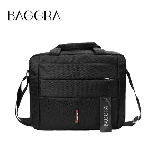 New Laptop Bag unissex impermeável duplo Zippers Velcro Interior bolso Grab Handle Ombro Bolsa de Negócios Preto
