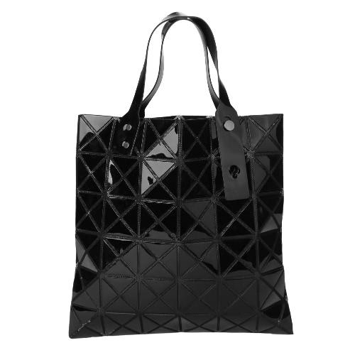 New Women Shoulder Bag Geometric Plaid  Foldable Adjustable Handle Casual Tote Bag