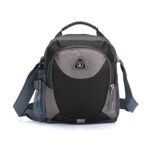 Frauen Männer Kleine Schultertasche Wasserdichte Nylon-Reisen Sport im Freien Zipper Messenger Bag Lässige Umhängetasche