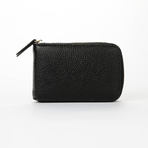 Cartão Mulheres Moda de Nova Titular ID PU couro cor sólida Zipper Multiple Wallet Slots Small Business Purse
