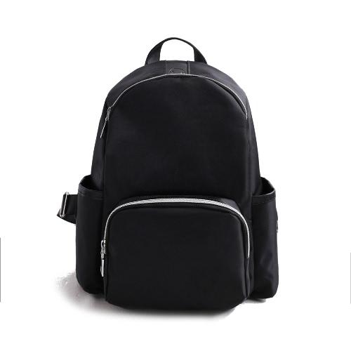 Homens Mulheres Nylon Mochila Fone de ouvido Pote Zipper Correia ajustável Casual School Travel Shoulder Bag