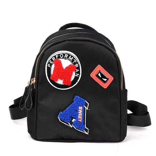 Damski Mini Plecak dla nastolatków Dziewczynka Szkoła Torba Śliczny Applique Solid Małe Plecak Dorywcza Torba Rucksack