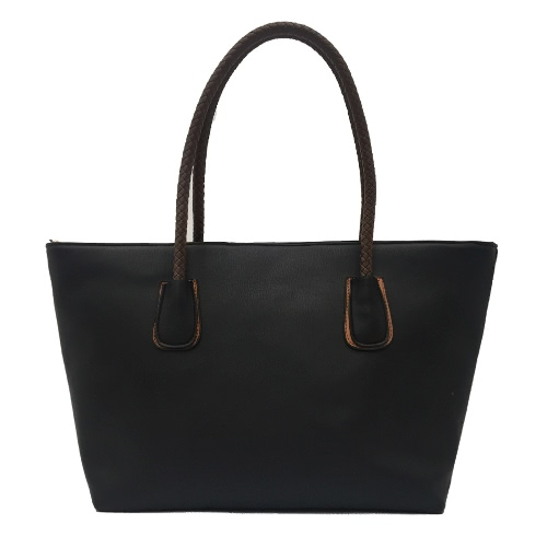 Sacchetto di spalla casuale della borsa della borsa di cuoio dell'unità di elaborazione delle nuove donne della borsa di grande capienza nero / beige