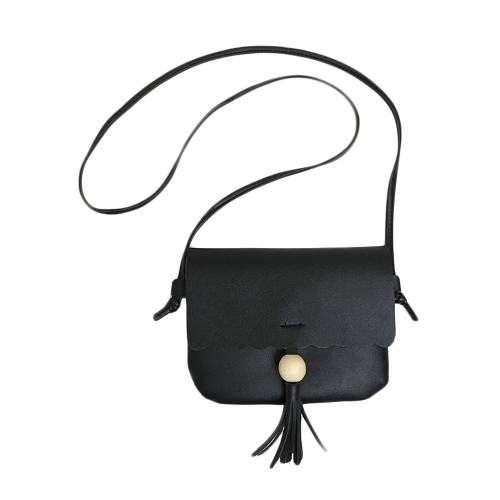 Nuevo bolso de hombro de cuero de la PU para mujeres lindo sólido Casual Crossbody bolsas niñas Mini bolso de mano negro / marrón / gris