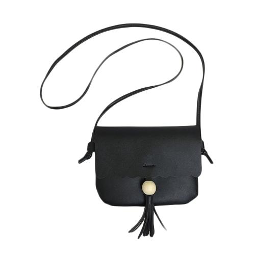 Bolsa de ombro de couro nova para mulheres Bonito Sólido Casual Crossbody Bags Menino Mini Bag Tote Preto / Brown / Grey