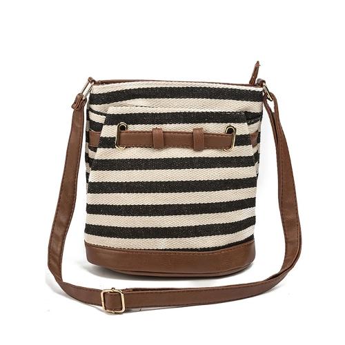 Bolsas de ombro de lona de mulher Bolsa de ombro Bolsa de mochila de estilo estilo garota Crossbody Messenger Bag
