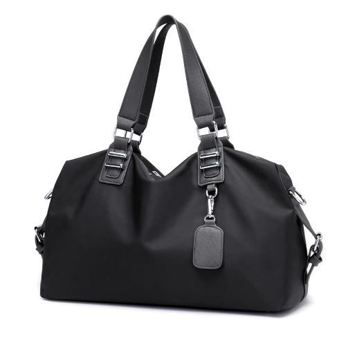 Mulheres Bolsa Nylon Impermeável Sólido Grande Capacidade Multifuncional Casual Outdoor Sports Tote Weekend Traveling Bag