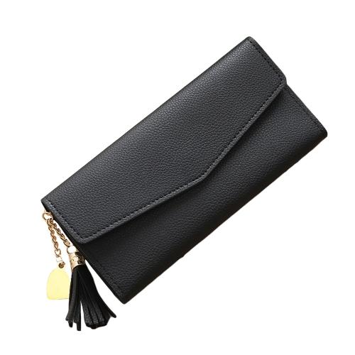 Moda Kobiety Długo PU Portfel Torebka Wysokiej Jakości Gotówka Posiadacz Karty Kredytowej Clutch Bag