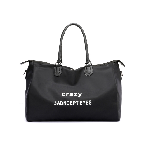 Mujeres de la manera de impresión de la letra del bolso de hombro de nylon de gran capacidad de envío de viaje bolso casual crossbody