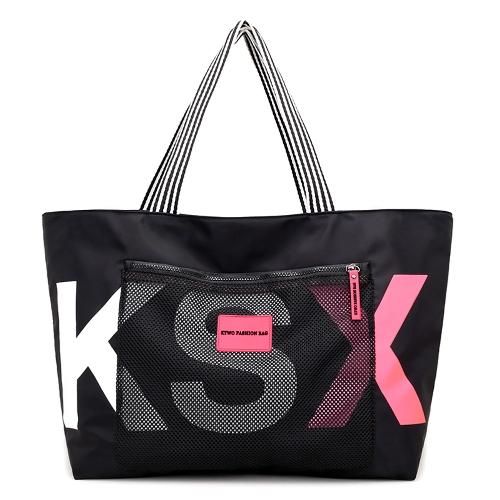 Fashion Women Letter Print Wodoodporna nylonowa torebka o dużej pojemności Travel Shipping Casual Tote Shoulder Bag