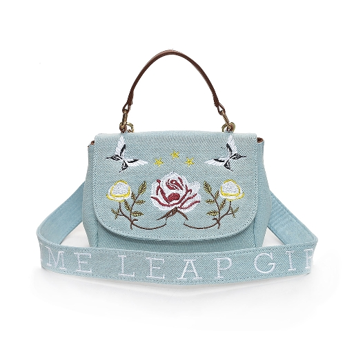 Mode Frauen Crossbody Tasche Floral Schmetterling Stickerei Klappe vorne Messenger Bag Casual Schultertasche