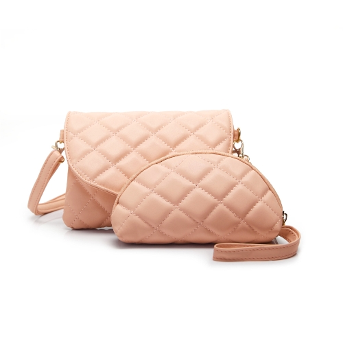 New Fashion Women Crossbody Bag PU Leather Quilted Casual Shoulder Messenger Bag Clutch Bag