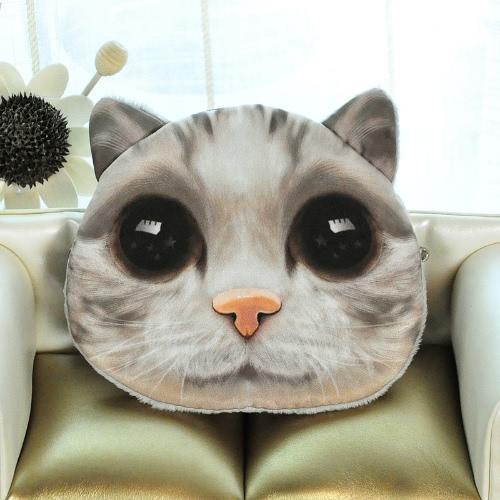 Милые мода женщин монета кошелек кошка животных печати мини-кошелек молния закрытия небольшой клатч фото