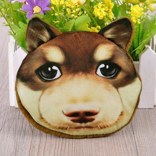 Hübsch Frauen Coin Purse Hund Tier Print Mini Geldbörse Schließung kleine Kupplung Zipptasche