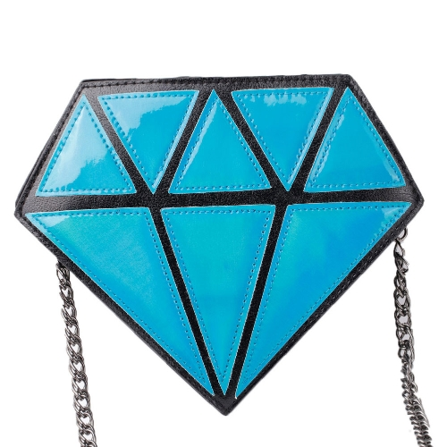 Fashion Women Crossbody Bag Diamond Pattern PU Leather Zipper Closure Shoulder Bag Rose