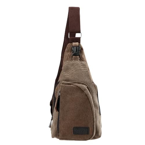 Vintage Men's Canvas Wojskowa torba Zipper Pocket Shoulder Travel Torba podróżna Mała Torba Black / Khaki / Kawa