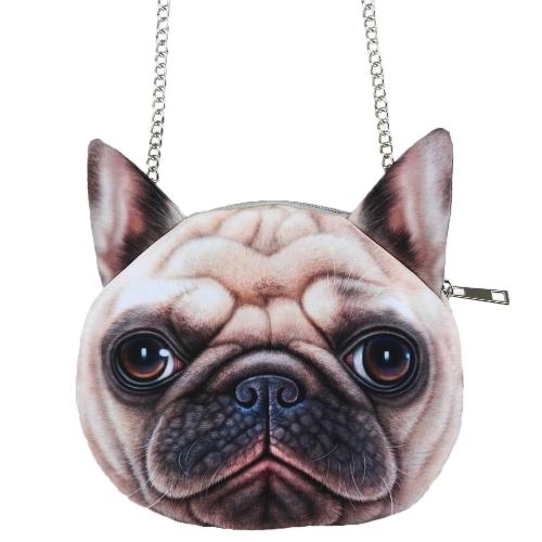Small Cute Dog Print Crossbody Bag