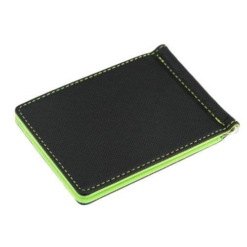 Новая мода мужчины клип бумажник высокого качества PU кожа Многофункциональные красочные бизнес бумажник зеленый/серый/коричневый фото